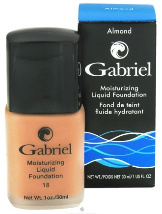 DROPPED: Gabriel Cosmetics Inc. - Moisturizing Liquid Foundation Almond 18 SPF - 1 oz. CLEARANCE PRICED