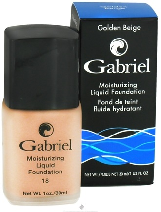 DROPPED: Gabriel Cosmetics Inc. - Moisturizing Liquid Foundation Golden Beige 18 SPF - 1 oz. CLEARANCE PRICED