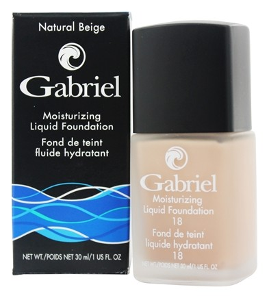 Gabriel Cosmetics Inc. - Moisturizing Liquid Foundation Natural Beige 18 SPF - 1 oz.