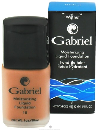 DROPPED: Gabriel Cosmetics Inc. - Moisturizing Liquid Foundation Walnut 18 SPF - 1 oz. CLEARANCE PRICED