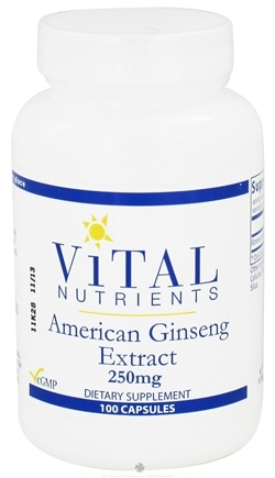 DROPPED: Vital Nutrients - American Ginseng Extract 250 mg. - 100 Capsules