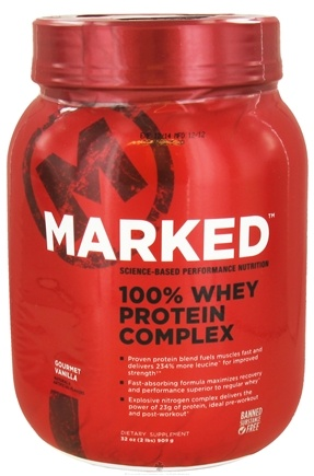 DROPPED: Marked Nutrition - 100% Whey Protein Complex Gourmet Vanilla (32 oz.) - 2 lbs.