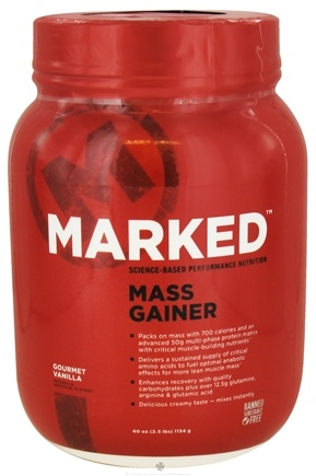 Marked Nutrition - Mass Gainer Gourmet Vanilla - 40 oz.