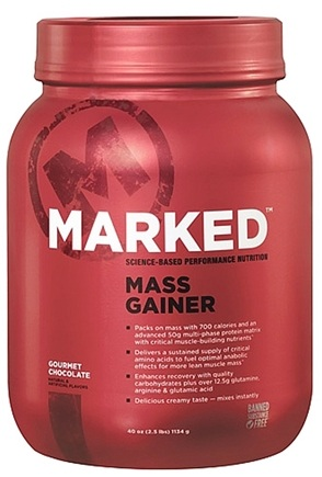 DROPPED: Marked Nutrition - Mass Gainer Gourmet Chocolate - 40 oz.