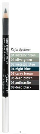 DROPPED: Sante - Kajal Eyeliner Pencil 08 Deep Black - 1.3 Grams CLEARANCE PRICED