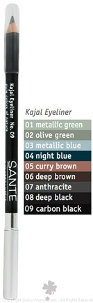 DROPPED: Sante - Kajal Eyeliner Pencil 09 Carbon Black - 1.3 Grams