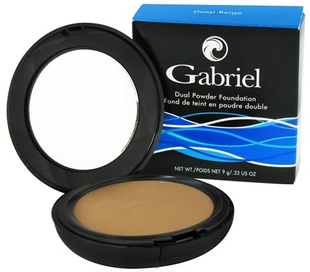 DROPPED: Gabriel Cosmetics Inc. - Dual Powder Foundation Deep Beige - 0.32 oz.