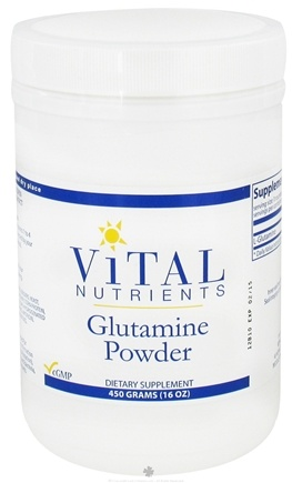 Vital Nutrients - Glutamine Powder - 450 Grams
