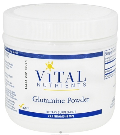 DROPPED: Vital Nutrients - Glutamine Powder - 225 Grams CLEARANCE PRICED