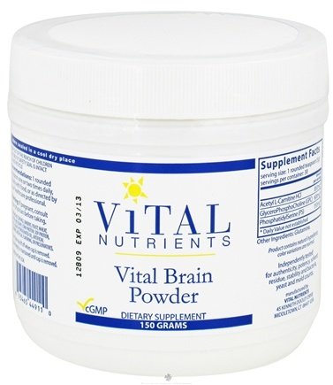 DROPPED: Vital Nutrients - Vital Brain Powder - 150 Grams CLEARANCE PRICED