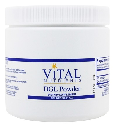 Vital Nutrients - DGL Powder - 120 Grams
