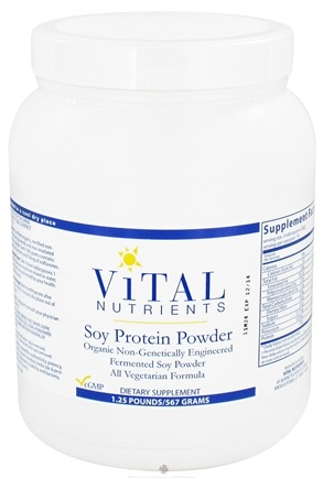 DROPPED: Vital Nutrients - Soy Protein Powder - 1.25 lbs. CLEARANCE PRICED