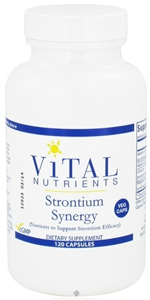 DROPPED: Vital Nutrients - Strontium Synergy - 120 Vegetarian Capsules CLEARANCE PRICED
