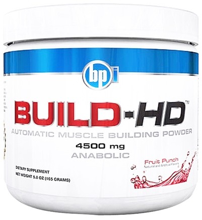 DROPPED: BPI Sports - Build-HD Automatic Muscle Building Powder Fruit Punch - 30 Servings 4500 mg. - 6.35 oz. CLEARANCE PRICED