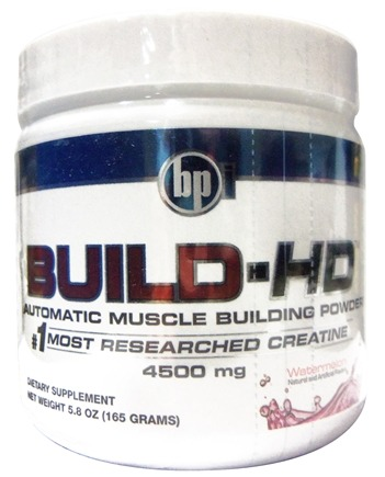 DROPPED: BPI Sports - Build-HD Automatic Muscle Building Powder Watermelon - 30 Servings 4500 mg. - 6.35 oz.