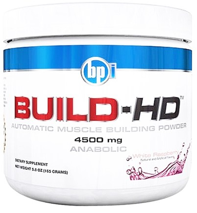 DROPPED: BPI Sports - Build-HD Automatic Muscle Building Powder White Raspberry - 30 Servings 4500 mg. - 6.35 oz. CLEARANCE PRICED