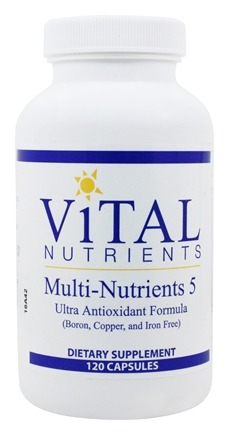 Vital Nutrients - Multi-Nutrients V with Antioxidants - 120 Capsules