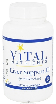 DROPPED: Vital Nutrients - Liver Support II with Picrorhiza - 60 Vegetarian Capsules CLEARANCE PRICED
