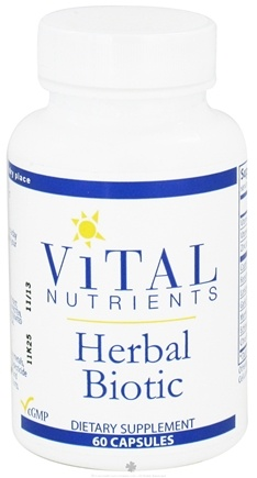DROPPED: Vital Nutrients - Herbal Biotic - 60 Capsules