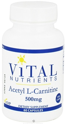 DROPPED: Vital Nutrients - Acetyl L-Carnitine 500 mg. - 60 Vegetarian Capsules