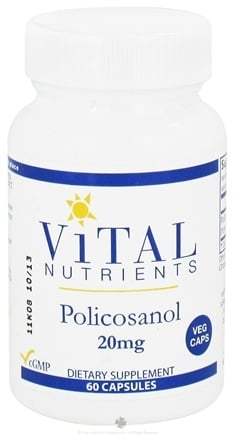 DROPPED: Vital Nutrients - Policosanol 20 mg. - 60 Vegetarian Capsules CLEARANCE PRICED