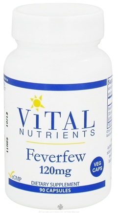 Vital Nutrients - Feverfew 120 mg. - 90 Vegetarian Capsules