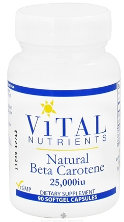 DROPPED: Vital Nutrients - Natural Beta Carotene 25000 IU - 90 Softgels CLEARANCE PRICED