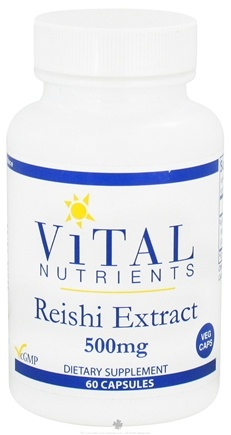 DROPPED: Vital Nutrients - Reishi Extract 500 mg. - 60 Vegetarian Capsules CLEARANCE PRICED