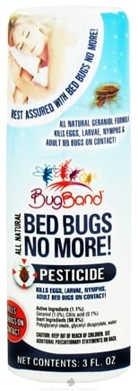 DROPPED: Bug Band - Bed Bugs No More Pesticide for Bed Bugs - 3 oz. CLEARANCE PRICED