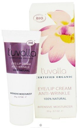 DROPPED: L'uvalla Certified Organic - Eye/Lip Cream Anti-Wrinkle Intensive Moisturizer - 0.7 oz. CLEARANCE PRICED