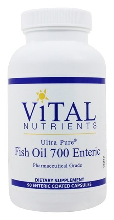 Vital Nutrients - Ultra Pure Fish Oil 700mg Omega-3 Unflavored - 90 Capsules
