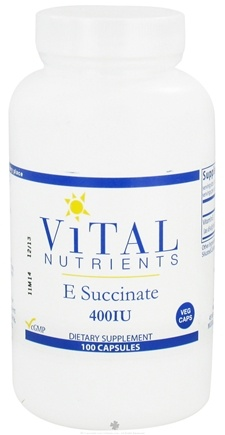 DROPPED: Vital Nutrients - E Succinate 400 IU - 100 Vegetarian Capsules CLEARANCE PRICED