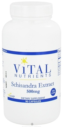 DROPPED: Vital Nutrients - Schisandra Extract 500 mg. - 90 Vegetarian Capsules CLEARANCE PRICED