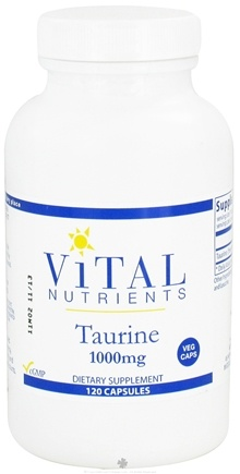 DROPPED: Vital Nutrients - Taurine 1000 mg. - 120 Vegetarian Capsules