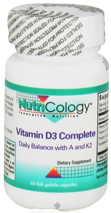 Nutricology - Vitamin D3 Complete - 60 Gelcaps