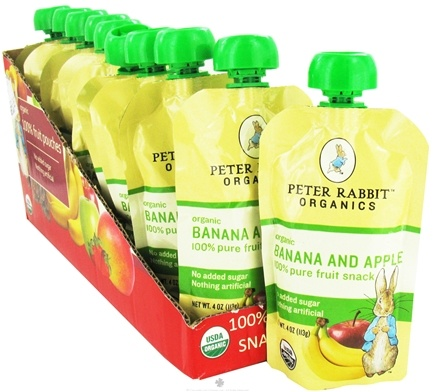 DROPPED: Peter Rabbit Organics - Organic Fruit Snack 100% Pure Banana and Apple - 4 oz. CLEARANCE PRICED