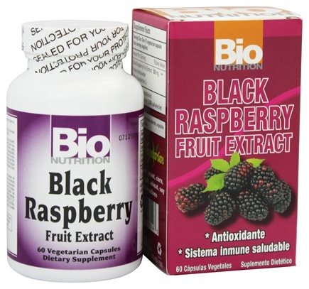 DROPPED: Bio Nutrition - Black Raspberry Fruit Extract 500 mg. - 60 Vegetarian Capsules