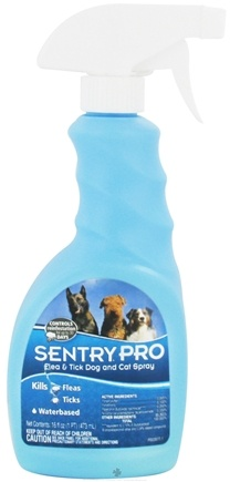 DROPPED: Sergeant's Pet Care - Sentry Pro Flea & Tick Dog and Cat Spray - 16 oz. CLEARANCE PRICED