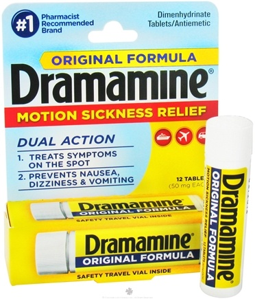 DROPPED: Dramamine - Orignal Formula 50 mg. - 12 Tablets CLEARANCE PRICED