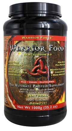 WarriorForce - Warrior Food Extreme Protein Supplement V 2.0 Natural - 1000 Grams