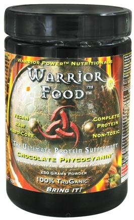 DROPPED: WarriorForce - Warrior Food Extreme Protein Supplement V 2.0 Chocolate Phycocyanin - 250 Grams CLEARANCE PRICED