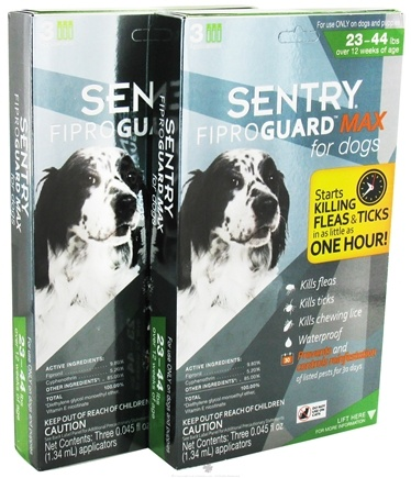 DROPPED: Sergeant's Pet Care - Sentry FiproGuard Max For Dogs 23-44 lbs. - 6 Applications CLEARANCE PRICED