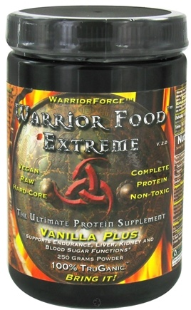 DROPPED: WarriorForce - Warrior Food Extreme Protein Supplement V 2.0 Vanilla Plus - 250 Grams CLEARANCE PRICED