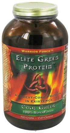 DROPPED: WarriorForce - Warrior Food Elite Green Protein Cool Green - 500 Grams
