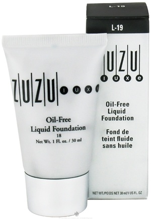 DROPPED: Zuzu Luxe - Oil-Free Liquid Foundation L-19 Medium/Dark Skin 18 SPF - 1 oz. CLEARANCE PRICED