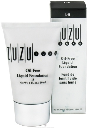 DROPPED: Zuzu Luxe - Oil-Free Liquid Foundation L-6 Light/Ivory Skin 18 SPF - 1 oz. CLEARANCE PRICED