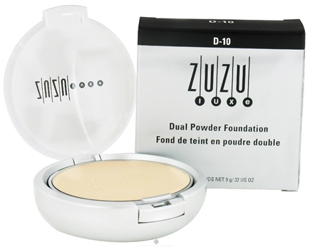 DROPPED: Zuzu Luxe - Dual Powder Foundation D-10 Paly/Ivory Skin - 0.32 oz. CLEARANCE PRICED