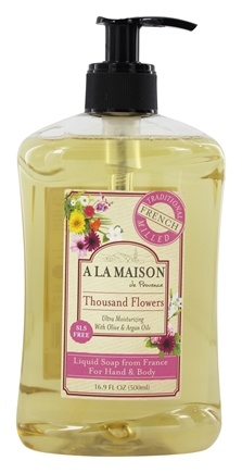 A La Maison - Traditional French Milled Liquid Soap Thousand Flowers - 16.9 oz.