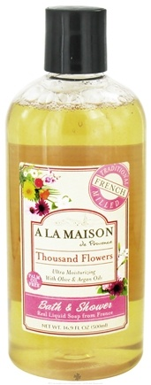 DROPPED: A La Maison - Traditional French Milled Bath & Shower Liquid Soap Thousand Flowers - 16.9 oz.