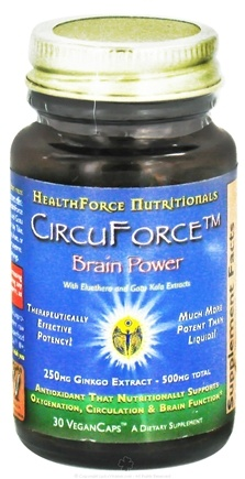 DROPPED: HealthForce Nutritionals - CircuForce Brain Power with Ginkgo Extract 500 mg. - 30 Vegetarian Capsules CLEARANCE PRICED
